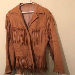 Jackets & Blazers - Real vintage fringe hippie jacket leather suede